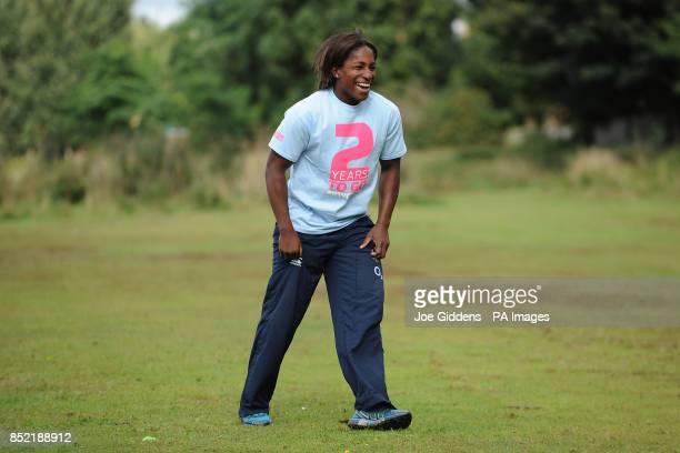 England Rugby 2015 Ambassador Maggie Alphonsi marks the two year countdown to matches of the Rugby World Cup 2015 coming to Birmingham with pupils...