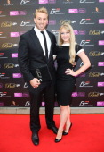 England rugby player Chris Robshaw and girlfriend Camilla Kerslake attend the Grand Prix Ball at The Hurlingham Club on June 27 2013 in London England