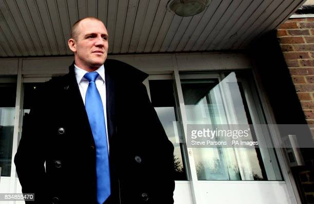 England rugby player Mike Tindall leaves Newbury Magistrates' Court today after his sentencing for drink driving was adjourned after legal...