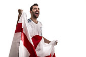 England Soccer fan celebrating