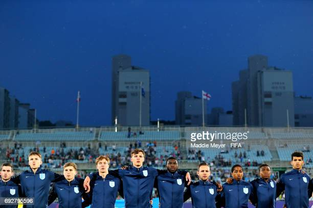 England stands for their national anthem before the FIFA U20 World Cup Korea Republic 2017 Quarter Final match between Mexico and England at Cheonan...
