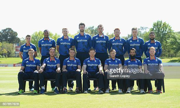 England team at Mangaung Oval on February 1 2016 in Bloemfontein South Africa