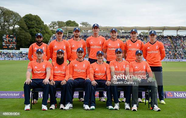 England team during the NatWest T20 International match between England and Australia at SWALEC Stadium on August 31 2015 in Cardiff United Kingdom