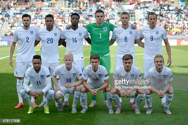 England team group before the UEFA Under21 European Championship 2015 match between Sweden and England at Andruv Stadium on June 21 2015 in Olomouc...