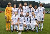 England team group during the International Friendly match between U16 Girl's England v U16 Girl's Germany on November 10 2014 in Burton upon Trent...
