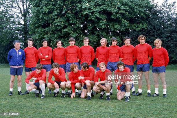 Harold Shepherdson Chris Lawler Gordon Banks Tommy Smith Martin Peters Allan Clarke Bobby Moore Roy McFarland Peter Shilton Martin Chivers Francis...