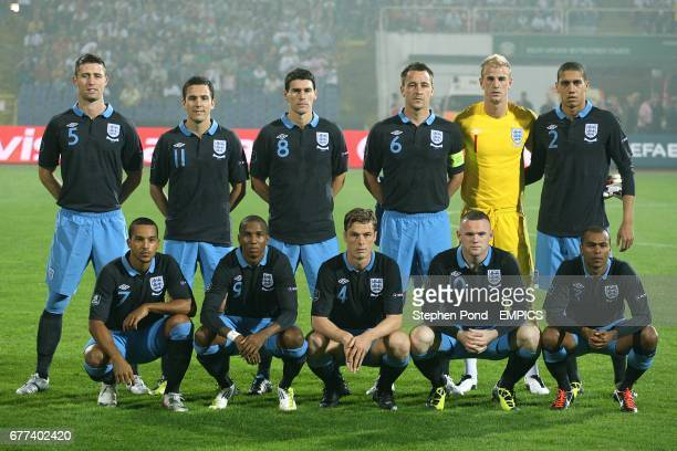England team group of Gary Cahill Stewart Downing Gareth Barry John Terry Joe Hart Chris Smalling Theo Walcott Ashley Young Scott Parker Wayne Rooney...