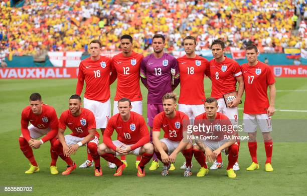 England team group Phil Jones Chris Smalling Ben Foster Rickie Lambert Frank Lampard and James Milner Ross Barkley Alex OxlaideChamberlain Wayne...