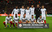 England team line up prior to the International Friendly match between England and Netherlands at Wembley Stadium on March 29 2016 in London England