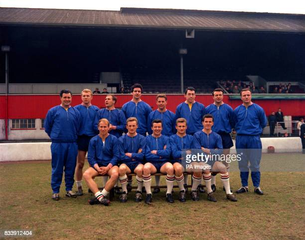 England team to meet Scotland in the International match at Hampden Park Harold Shepherdson Bobby Moore Ray Wilson Maurice Norman George Milne Gordon...