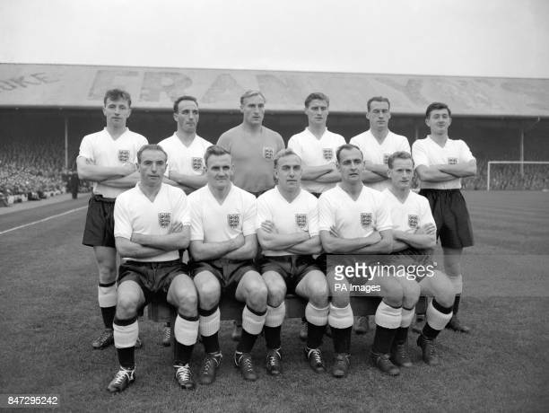 England team which lost 21 to Wales Roger Byrne Bill McGarry Bert Williams Jimmy Dickinson Nat Lofthouse and Jeff Hall Stanley Matthews Don Revie...