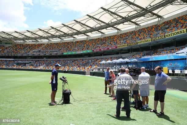 England Test player Dawid Malan speaks to media at The Gabba on November 20 2017 in Brisbane Australia