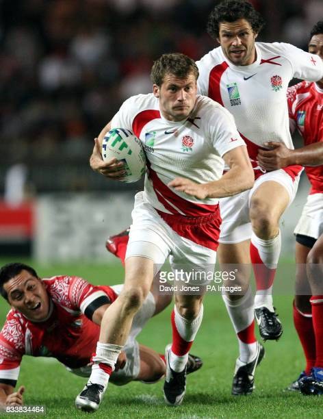 England threequarter Mark Cueto in action against Tonga at the Parc des Princes Paris 28th September 2007 Picture David Jones/PA