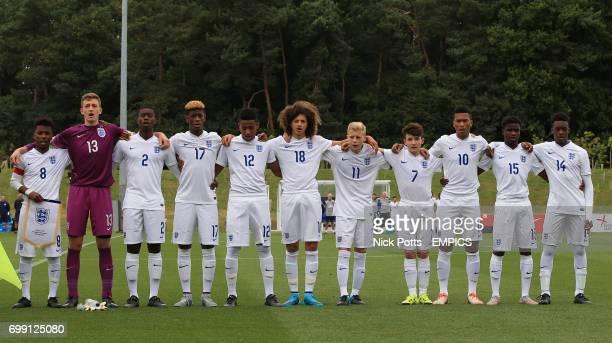 England U16 starting line up LR 8 Angel Gomes 13 Adam Pryzbek 2 Marc Guehi 17 Johnathan Panzo 12 Marcel Lavinier 18 Ethan Ampadu 11 Alex Cochrane 7...