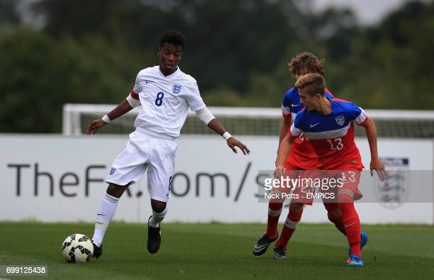 England U16's Angel Gomes