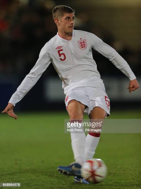 England U19 Jack Stephens during the Under 19 International Friendly at New Bucks Head Stadium Telford