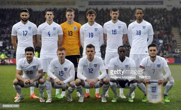 England Under 20 team group England's Jordan Turnbull Dominic Ball goalkeeper Jordan Pickford John Swift Jack Stephens and Kwame Thomas Alex Mowatt...