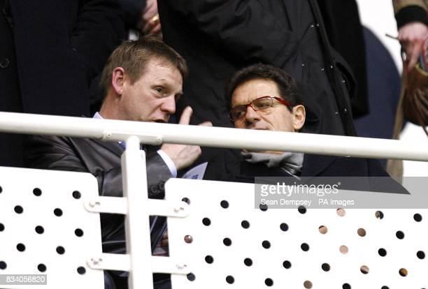 England under 21 manager Stuart Pearce and England manager Fabio Capello in the stands