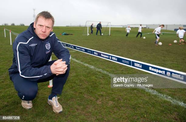 England under 21s coach Stuart Pearce during the FA Respect Barrier Launch at Holgate Sports College Barnsley