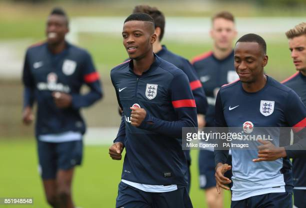 England Under 21's Nathaniel Chalobah during the training session at St George's Park Burton Upon Trent