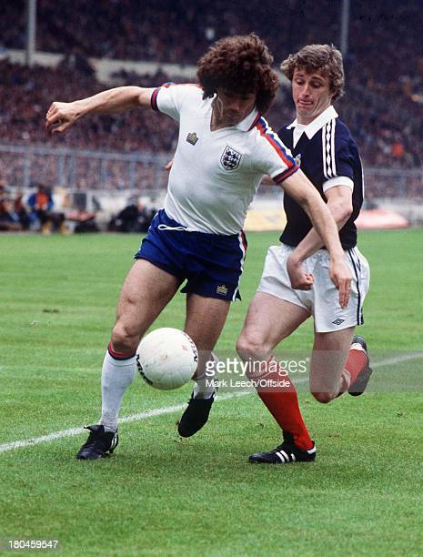 England v Scotland at WembleyKevin Keegan is challenged by Paul Hegarty
