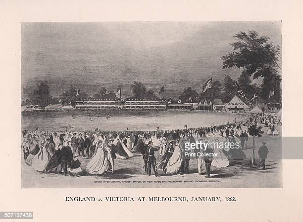 England v Victoria at Melbourne Australia January 1862 Scene from a match on the first tour to Australia by an England cricket team The England team...