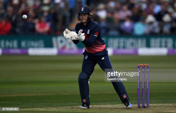 England wicketkeeper Sam Billings during the Royal London One Day International between England and Ireland at The Brightside Ground on May 5 2017 in...