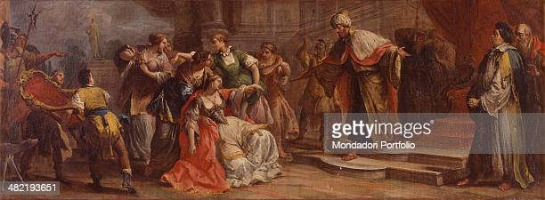 England Woburn Woburn Abbey Whole artwork view Episode from the book of Esther describing the young Jewish refugee fainting in front of the king