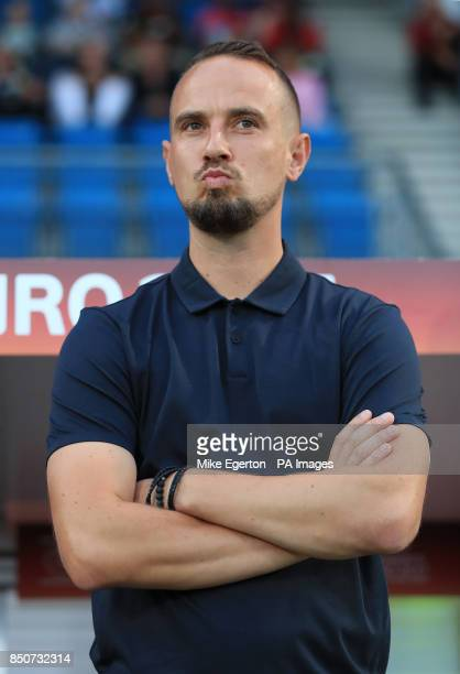 England Women manager Mark Sampson during the UEFA Women's Euro 2017 Group D match at the Koning Willem II Stadion Tilburg PRESS ASSOCIATION Photo...