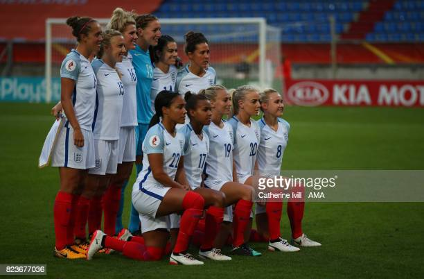 England Women team group during the UEFA Women's Euro 2017 match between Portugal and England at Koning Willem II Stadium on July 27 2017 in Tilburg...