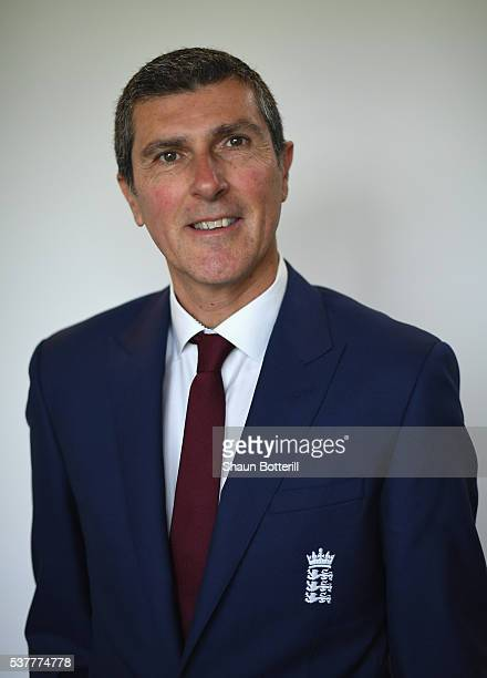 England Women's coach Mark Robinson poses for a photograph at Lord's Cricket Ground on June 3 2016 in London England
