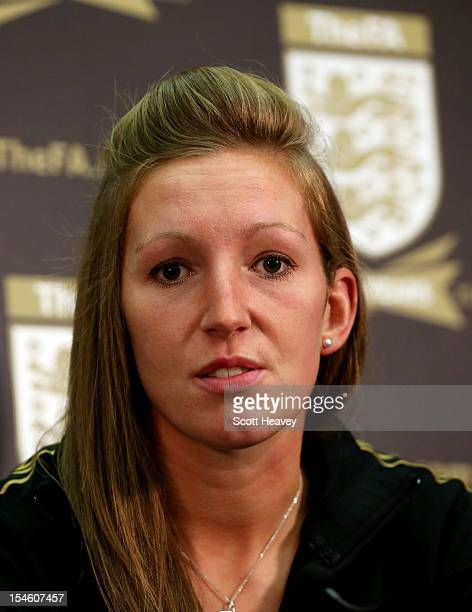 England Women's goalkeeper Siobhan Chamberlain during a press conference to announce the FA's 150th anniversary at Wembley Stadium on October 23 2012...