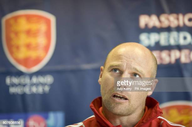 England Women's Head Coach Danny Kerry during the Women's Champions Trophy Media Day at Beeston HC Nottingham