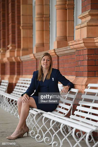 England Women's New Captain Heather Knight poses for a photograph at Lord's Cricket Ground on June 3 2016 in London England