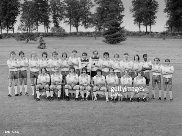 England World Cup Football Squad Graham Rix UNK UNK Bryan Robson Phil Thompson UNK Terry Butcher Peter Shilton Joe Corrigan Steve Foster Phil Neal...