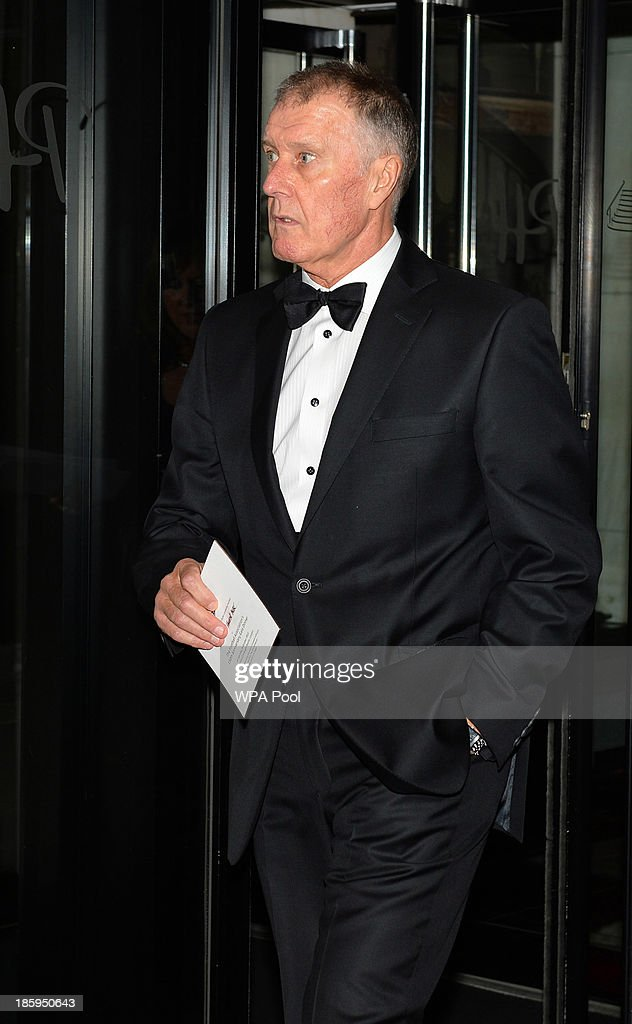 England World Cup team member <a gi-track='captionPersonalityLinkClicked' href=/galleries/search?phrase=Geoff+Hurst&family=editorial&specificpeople=206880 ng-click='$event.stopPropagation()'>Geoff Hurst</a> arrives to attend The Football Association's 150th Anniversary Gala Dinner at the Grand Connaught Rooms on October 26, 2013 in London, England. The Duke of Cambridge is president of the Football Association, which was founded 150 years ago on October 26, 1863. The event marks the day when a group of men representing a dozen London and suburban clubs met at the Freemason's Tavern in London, to draw up the rules of a sport that went on to become the most popular in the world.