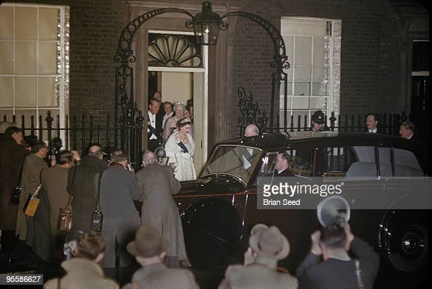 EnglandLondon10 Downing Streetthe Prime Ministers residence 4th April 1955 Churchill had resigned as Prime Minister on April 1 Sir Winston Churchill...