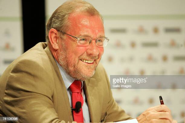 England's 2018 World Cup bid ambassador Richard Caborn MP smiles during day 3 of Soccerex 2007 at Sandton Convention Centre on November 27 2007 in...