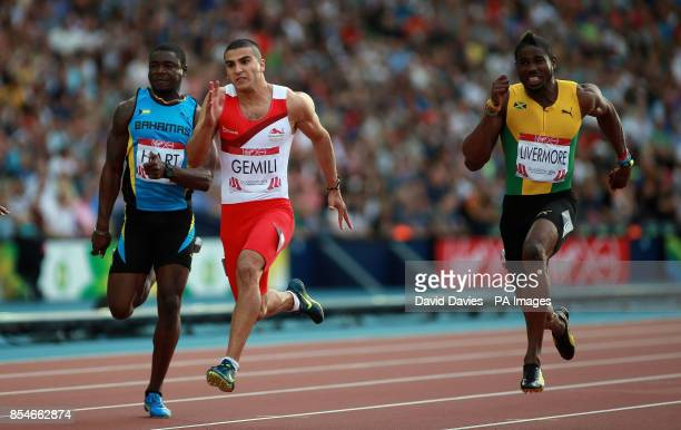 England's Adam Gemili during the 100m Men's semi final at Hampden Park during the 2014 Commonwealth Games in Glasgow