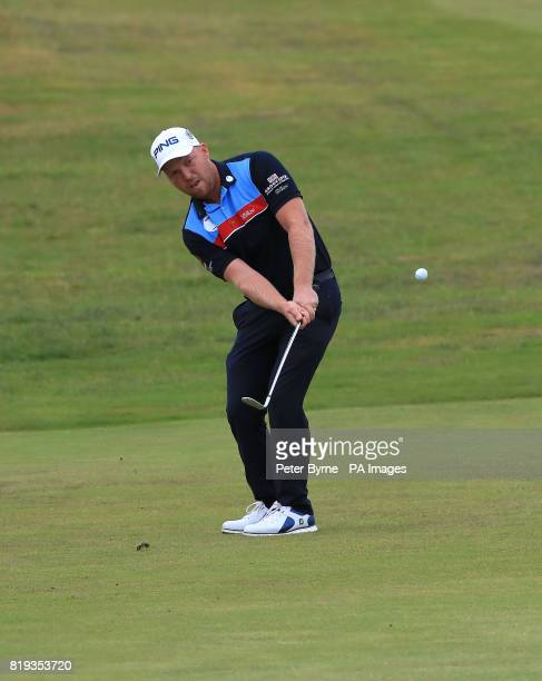 England's Adam Hodkinson on the 4th during day one of The Open Championship 2017 at Royal Birkdale Golf Club Southport