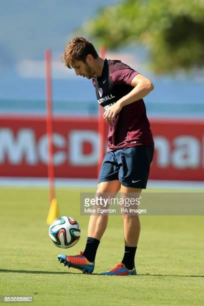 England's Adam Lallana during the training session at Urca Military Training Ground Rio de Janeiro Brazil