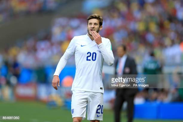 England's Adam Lallana reacts during the FIFA World Cup Group D match at the Estadio Mineirao Belo Horizonte Brazil