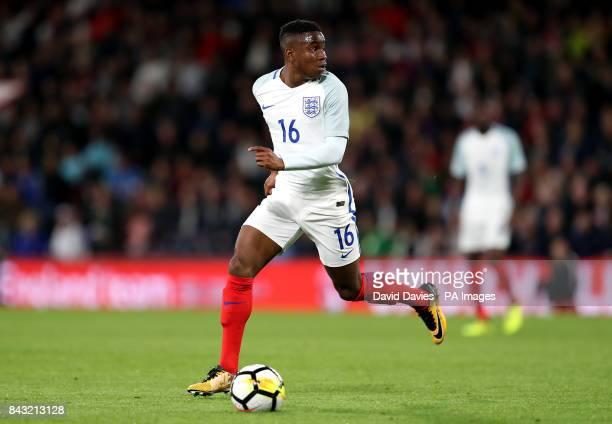 Englandâs Ademola Lookman during the 2019 UEFA Euro U21 Qualifying Group 4 match at the Vitality Stadium Bournemouth