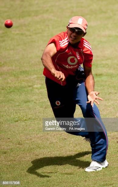 England's Adil Rashid during a nets session at St Marys Sports Ground Port of Spain Trinidad