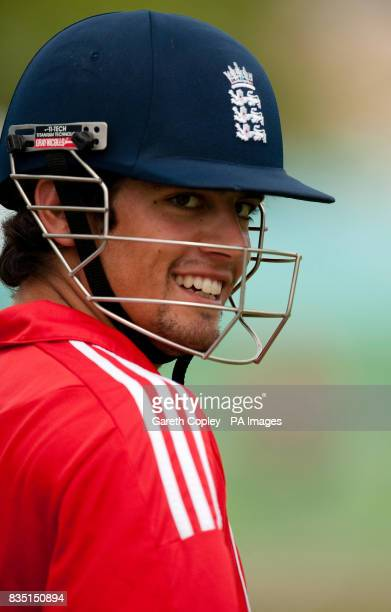 England's Alastair Cook during a nets session at St Marys Sports Ground Port of Spain Trinidad