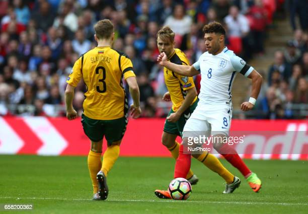 England's Alex OxladeChamberlain during FIFA World Cup Qualfying European Group F match between England against Lithuania at Wembley Stadium London...