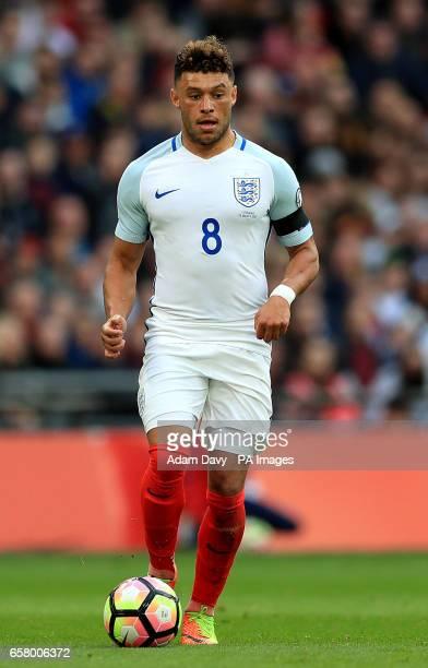 England's Alex OxladeChamberlain during the World Cup Qualifying match at Wembley Stadium London