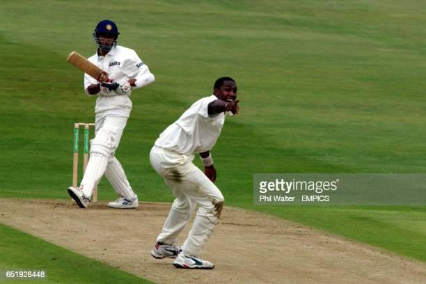 England's Alex Tudor makes an LBW appeal against India's Sanjay Bangar