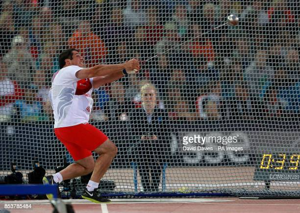 England's Amir Williamson during the Men's Hammer Final at Hampden Park during the 2014 Commonwealth Games in Glasgow