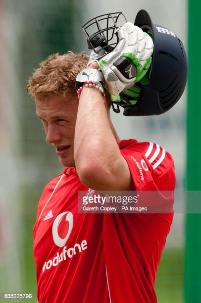 England's Andrew Flintoff during a nets session at Everest Cricket Ground Georgetown Guyana